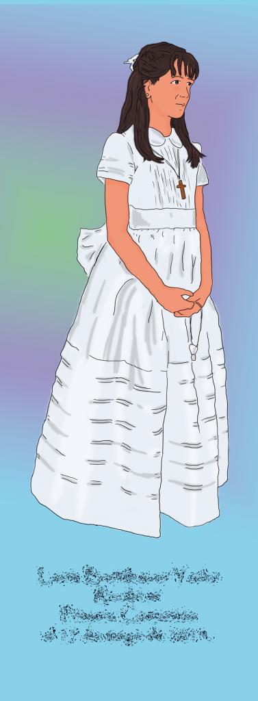primera comunion niña marcapaginas