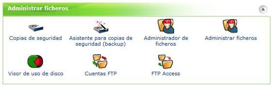 administrar ficheros CPanel