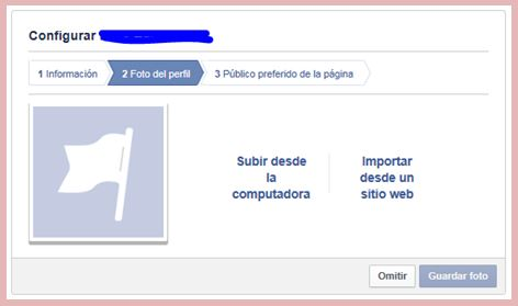 configurar perfil pagina facebook